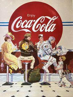 Coca Cola Poster, Coca Cola Ad, Always Coca Cola, Pepsi, Coca Cola Bottles, Vintage Advertisements, Vintage Ads, Vintage Posters, Vintage Signs