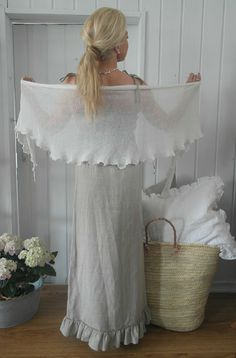 BY PIA`S: THE MOST BEAUTIFUL LINEN DRESSES - EVER - thin shawl