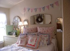 precious guest room with handmade pillows by Becky of Sweet Cottage Dreams: http://www.flickr.com/photos/sweetcottagedreams/2675066316/in/set-72157601162477247