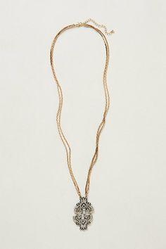 Crystalline Pendant Necklace #anthropologie