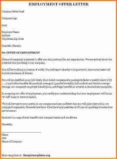 bad96747c7665a64539743d498e9f719 Template Cover Letter Free Download Printable Job Offer Form Fnlp on