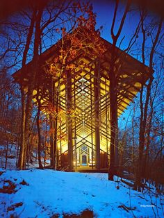 Thorncrown Chapel | Eureka Springs Arkansas Meg, this is one one of wood I took you to:)