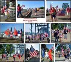 noogastrong walk on the Walnut Street Bridge 7-18-15 From Dawn Kropff  & WDEF News 12