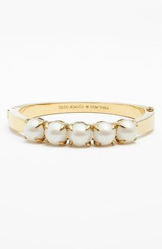 Free shipping and returns on kate spade new york 'squared away' hinge bracelet at Nordstrom.com. Luminous stones trace the top of an oval-fit bracelet.