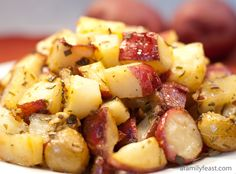 Tuscan Roasted Potatoes - A recipe that we brought back from our honeymoon in Italy...the absolute best way to roast potatoes!