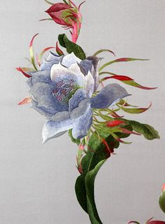 The Latest Trend in Embroidery – Embroidery on Paper - Embroidery Patterns Chinese Embroidery, Paper Embroidery, Silk Ribbon Embroidery, Crewel Embroidery, Hand Embroidery Patterns, Cross Stitch Embroidery, Embroidery Designs, Embroidery Books, Embroidery Tattoo