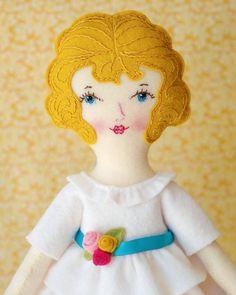Ellie - PDF Pattern Wool Felt Doll on Etsy, $20.00 Beautiful felt dolly.