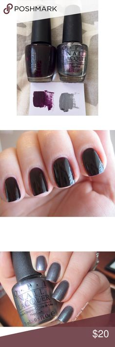 [OPI] ✖️No trades ✖️No lowballs _____________________________  OPI Lincoln Park After Dark  OPI Charcoal  Base coat/top coat not included  Barely used OPI Makeup