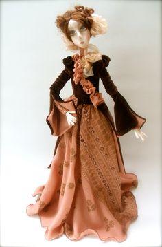 Adele   Cloth Art Doll OOAK  Handmade art doll.