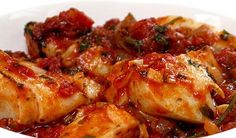 Mmmm�€� heerlijke vis met een zomers tintje die extra lekker smaakt door de saus. Makkelijk te maken, gezond, slank en goed voor te bereiden. Smaakt alsof...