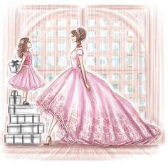 My favorite illustrator Mother Daughter Art, Mother Art, Mother And Child, Mothers Love, Happy Mothers Day, Princesse Disney Swag, Beste Mama, Girly M, Baby Pink Aesthetic