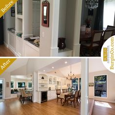 Before & After – Laguna Niguel Kitchen Remodel (40+ pics) Hard to believe this was taken standing in the same spot! What do you think? View this Full #BurginCo Kitchen #Remodel Before & After Photo Gallery  #Before&After #beforeafter #OC #designbuild