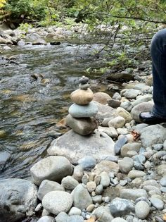 Cairns by the river