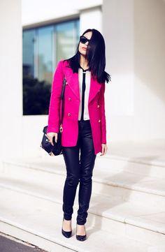 ideal fucsia coat