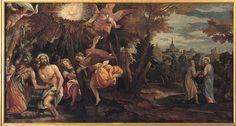#aspettandoveronese #mostraveronese Paolo Veronese, Battesimo e tentazione di Cristo, olio su tela (cm 248x450), Pinacoteca di Brera