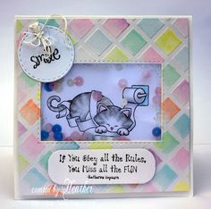 Bad Kitty card by Heather | Naughty Newton Stamp set by Newton's Nook Designs