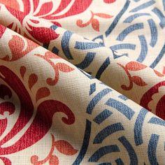 """Waverly Dressed Up Damask Poppy 55"""" Fabric"""