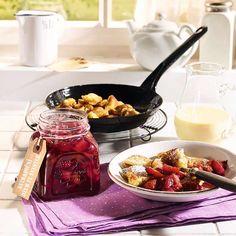 Zobrazit Švestkový džem receptů Good Morning Breakfast, Breakfast Time, Chutney, Chocolate Fondue, Fruit, Desserts, Food, Brunch Recipes, Savory Foods