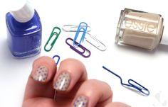 LifeHacks - Office Nail Art: Paper Clips – DIY Polka Dots (http://www.kalynlord.com/life-hack-office-nail-supplies/)