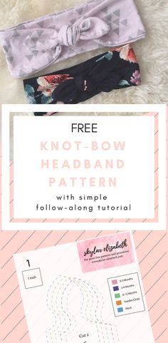 Download this free knot bow headband pattern in all sizes and follow the simple tutorial to make it and you will have the perfect accessory for babies, children, or adults!