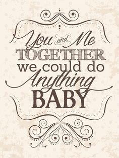 "You and Me Together Wedding Song Lyric Sign, INSTANT DOWNLOAD, 18"" x 24"", Printable, DIY, Sign, Vintage, Dave Matthews Band"