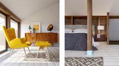Casinha colorida: Home tour: tijolos aparentes coloridos