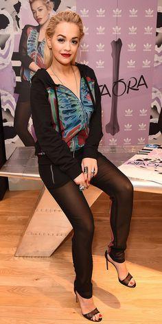 Rita Ora Makes Sheer Mesh Pants a Thing via @WhoWhatWear