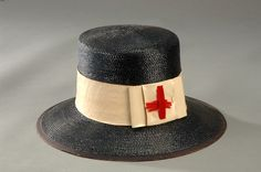 Edith Wilson, first lady, hat worn while volunteering with the Red Cross during WW1.  At the Smithsonian