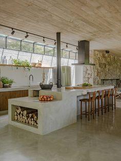 Kitchen Interior, Home Interior Design, Küchen Design, House Design, Shed Design, Kitchen Dining, Kitchen Decor, Sweet Home, Mexico House