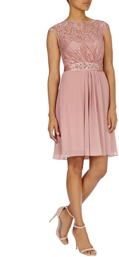 Womens dusty pink lori lee lace short dress from Coast - £49 at ClothingByColour.com Short Lace Dress, Short Dresses, Pink Fashion, Dusty Pink, Coast, Wedding, Clothes, Women, Short Gowns