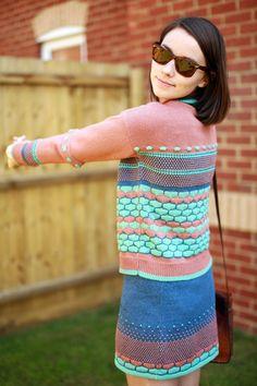 Melon & Grapefruit jumper + matching skirt!