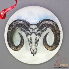 CHARMING FRIDGE MAGNET ANTELOPE WALL DECOR DIY WHITE STONE ZR3000223 #ZL #FridgeMagnet