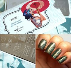 The Happy Sloths: MoYou London Suki Special Edition Nail Art Collection Stamping Plate #06: Review and Swatches