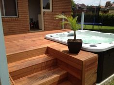 Image result for backyard deck with hot tub