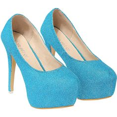 Blue High Heel Platform Shoes ($31) ❤ liked on Polyvore featuring shoes, pumps, heels, blue blue, blue leather pumps, high heel platform pumps, platform stiletto pumps, stiletto heel pumps and platform pumps