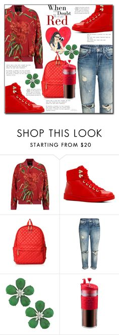 """""""Botanical Bright"""" by leoll ❤ liked on Polyvore featuring Dolce&Gabbana, ALDO, M Z Wallace, Siman Tu and Bodum"""