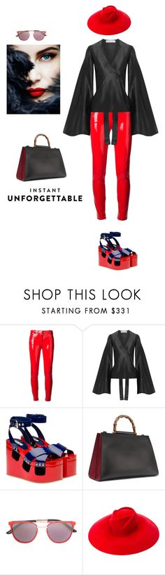 """Instant unforgettable"" by zabead ❤ liked on Polyvore featuring Versace, Beaufille, Miu Miu, Gucci and Smoke x Mirrors"
