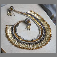 Gold Pectoral Choker Necklace
