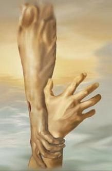 Even heroes need a hand from a higher power.....