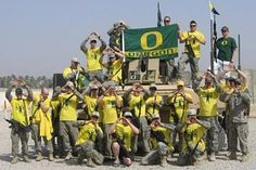 US Military support of the Oregon Ducks, all the way from Iraq! Thanks guys! #nationalbrand
