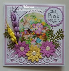 Eastercard/ Jeanine's art dies Embossing Folder, Holiday Cards, Diy And Crafts, Christmas Decorations, Jan 2018, Scrapbooking, Art Cards, A3, Frame