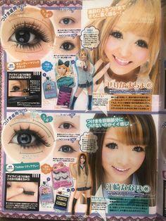 Gyaru Hair, Gyaru Makeup, Lolita Hair, Hair Makeup, Everyday Makeup Tutorials, Korean Makeup Tutorials, Makeup Inspo, Makeup Inspiration, Japanese Makeup