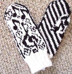 Love's Sweet Song pattern by Mona Bultena Mittens Pattern, Knit Mittens, Mitten Gloves, Knitting Socks, Knitted Hats, C2c Crochet, Crochet Gloves, Fair Isle Knitting, Hand Warmers
