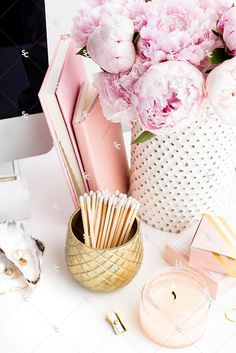 Styled Stock Photography Pretty in Pink Desk Collection #12