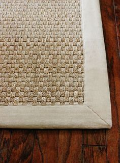 The seagrass rug! Sisal rugs are pretty, but they stain very quickly and really show wear and tear.  Jute rugs get snags and can unravel over time.