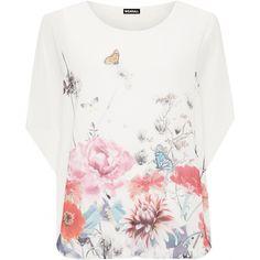 Shauna Floral Butterfly Chiffon Top