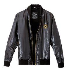 AK Faux Leather Varsity Jackets Black