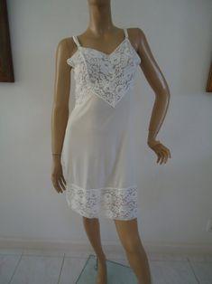 ab73de07c37a Aristocraft Full Slip by Superior White Wide Lace Vintage 1960 Wedding  Honeymoon Ladies Lingerie Size 36