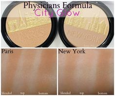 Physicians Formula City Glow Daily Defense Bronzer in New York and Paris // Swatches