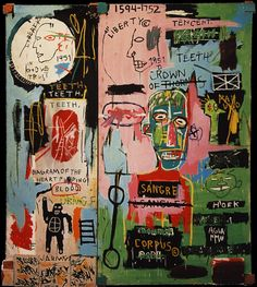 Jean-Michel Basquiat - In Italian, 1983, acrylic and crayon on canvas